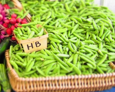 Sugar Snaps at Market