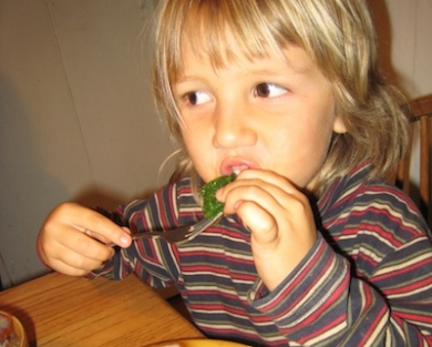 Sagan Eating Salad